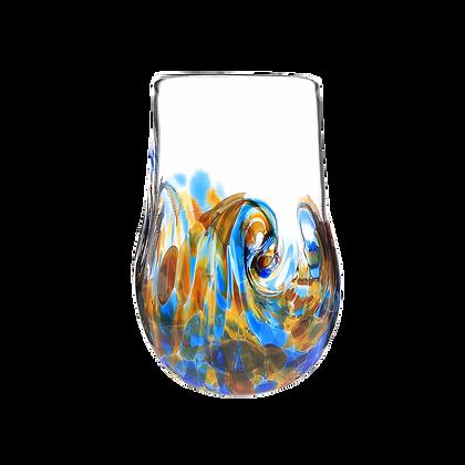 Blue & Amber Mini Twisty Cup