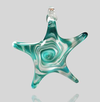 Teal & White Star