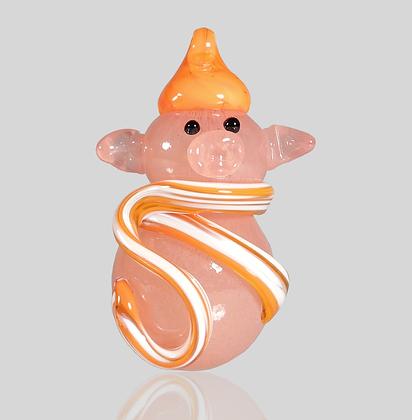 Orange Snow Pig