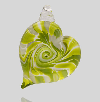 Citrus Lime Heart Ornament