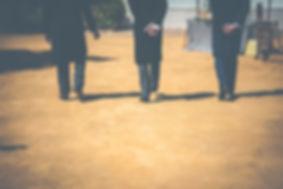 personas andando
