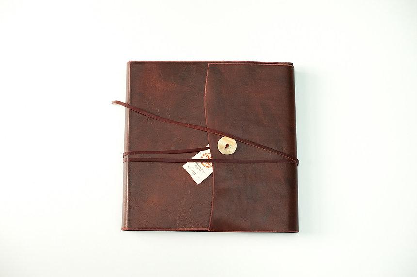 wedding album, natural leather