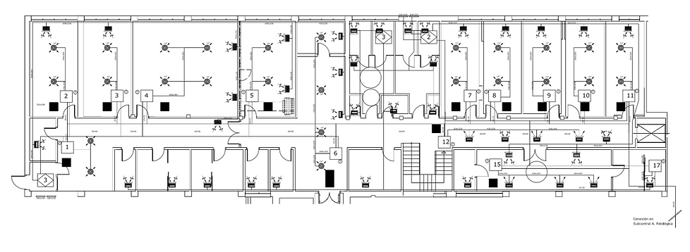 IMIBIC, plano arquitectonico