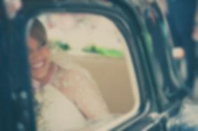 llegada de la novia en coche