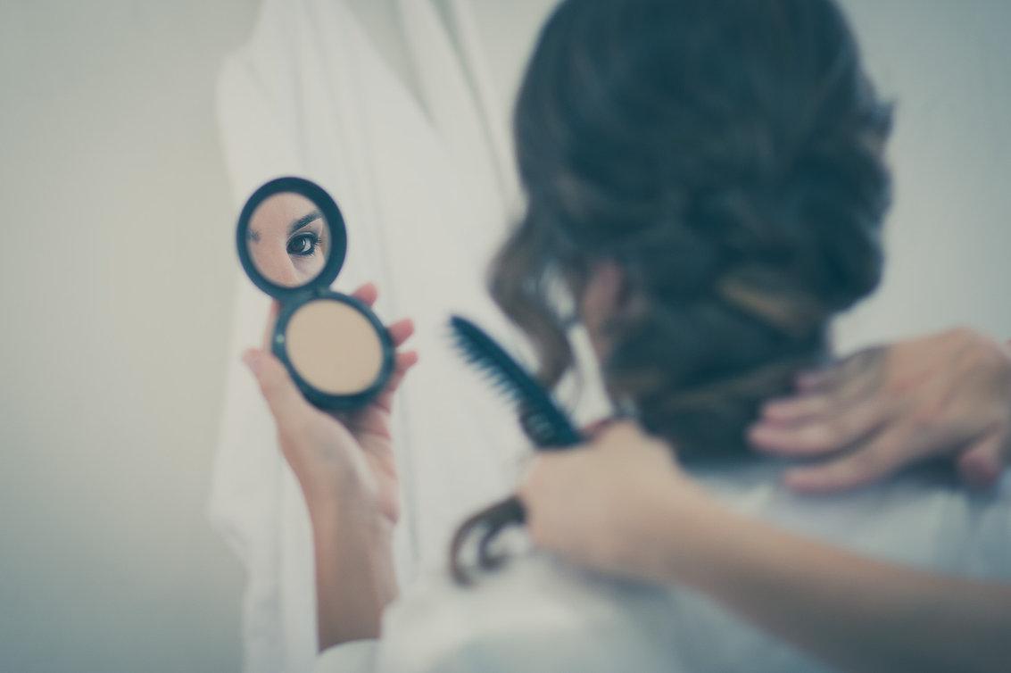 mirada en el espejo