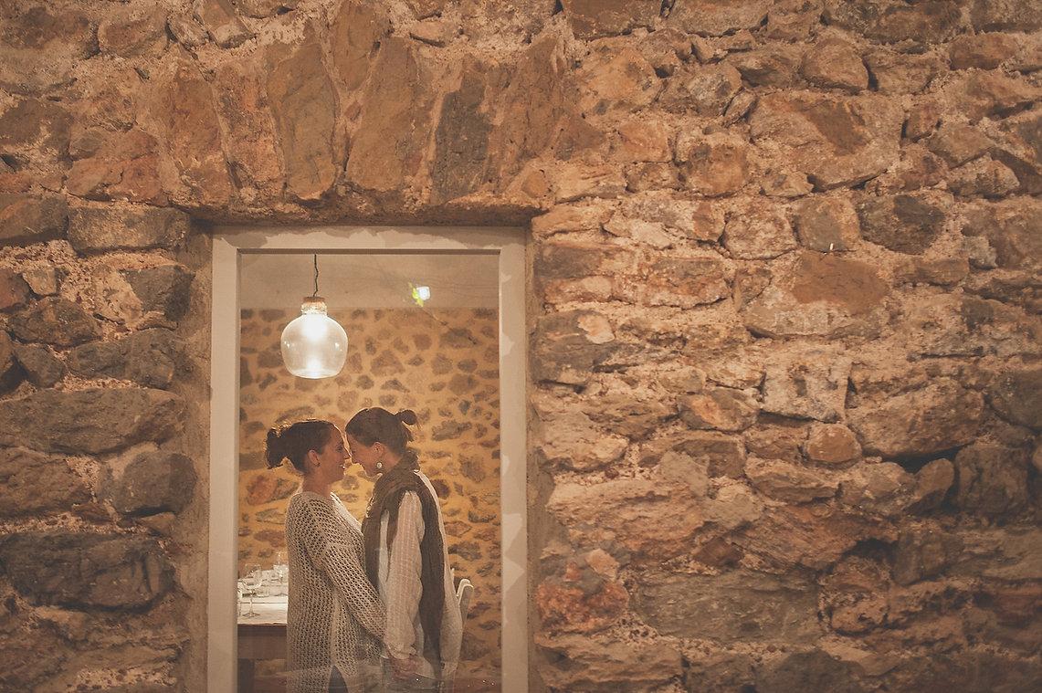novias en el restaurante