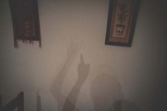 sombra en la pared