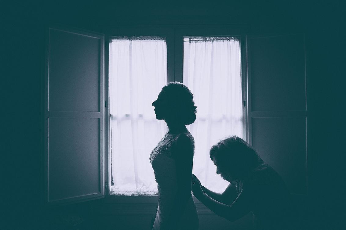 contraluz con la madre