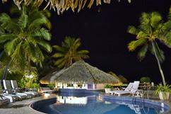 Club Raro's Pool Side Bar at night