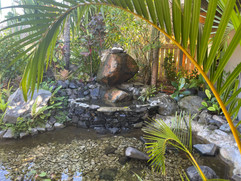 Our fish ponds at our entrance