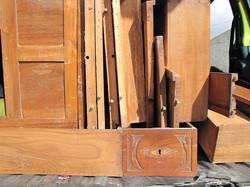 Old furniture fragments