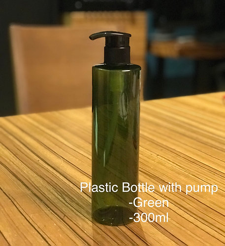 Plastic Bottle 300ml (Green)