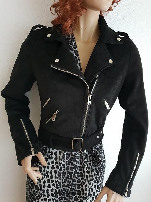 Zwarte trend coat m/l