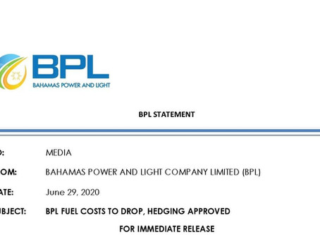 Press Statement - BPL Fuel Costs to Drop, Hedging Approved