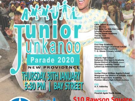 Event Notice - Junior Junkanoo Parade Thursday, January 30th