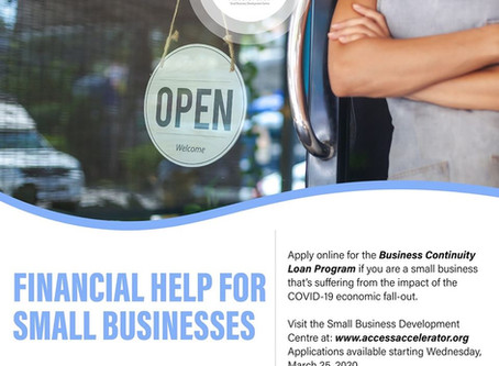 GOVT SPECIAL SMALL BUSINESS LOAN SUPPORT PROGRAMME BEGAN WEDNESDAY 25th MARCH, 2020