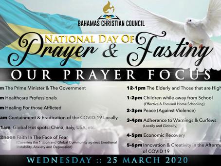 National Day of Prayer & Fasting