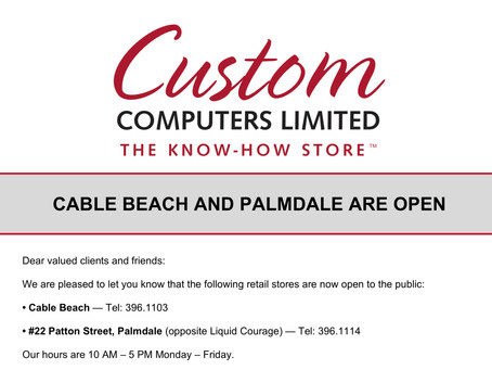Custom Computers Limited - Now Open