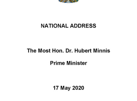 National Address - Prime Minister Minnis - 17th May 2020