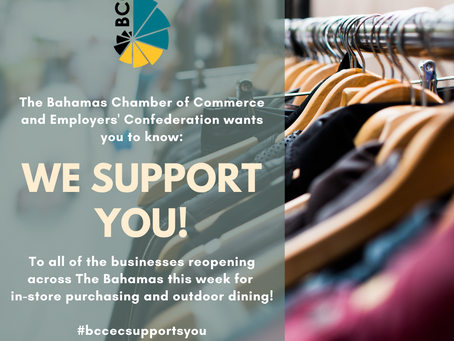 "BCCEC Businesses Reopening This Week: ""We Support You!"""
