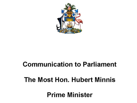 Communication to Parliament - Prime Minister Minnis - 28th May 2020