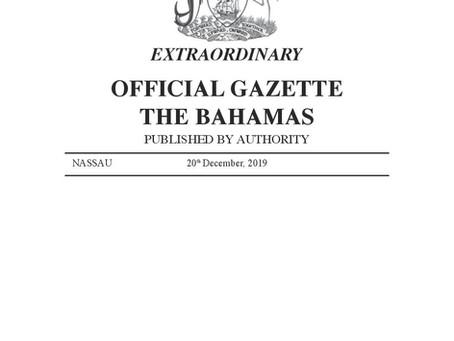 Plastics Ban Official Gazette December 2019
