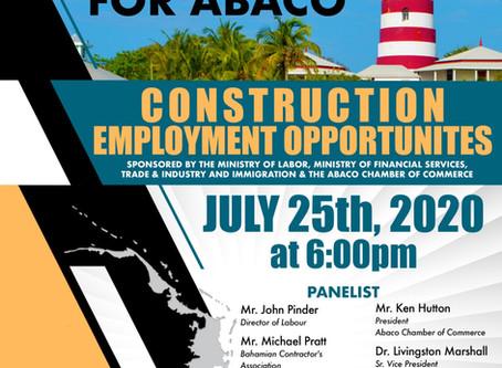 Virtual Job Fair for Abaco - July 25th, 2020