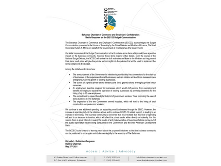 Press Release: BCCEC Media Response-Budget Communication 2021-2022