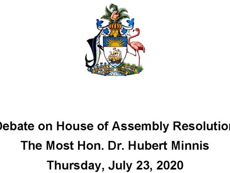 Debate on House of Assembly Resolution - 23rd July 2020