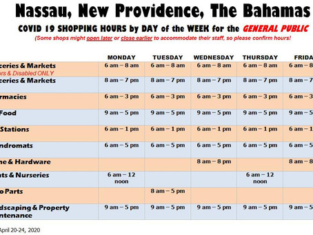 COVID-19 Shopping Hours - New Providence, Bahamas
