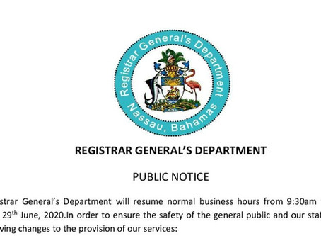 Registrar General's Department Public Notice