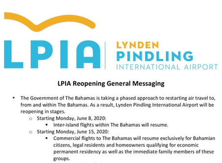 Lynden Pindling International Airport Reopening General Messaging
