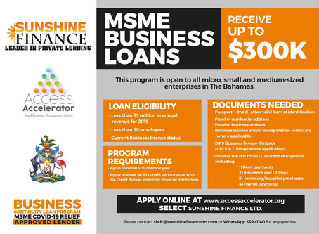 Business Continuity Loan Program - MSME Covid-19 Relief