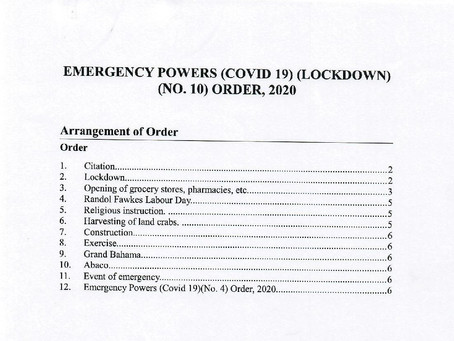 Emergency Powers (Covid 19) (Lockdown) (No.10) Order, 2020