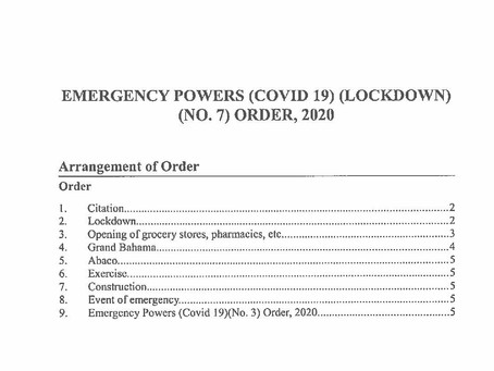 Emergency Powers (Covid 19) (Lockdown) (No.7) Order, 2020