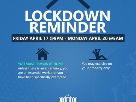Lockdown Reminder