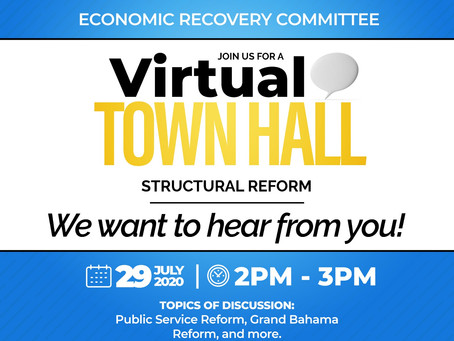 Virtual Town Hall - Structural Reform - July 29th - 2 pm