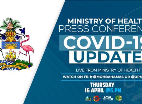 COVID-19 PRESS CONFERENCE - Thursday 16th April 5 PM