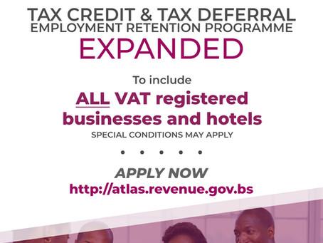 Tax Credit & Tax Deferral Employment Retention Programme