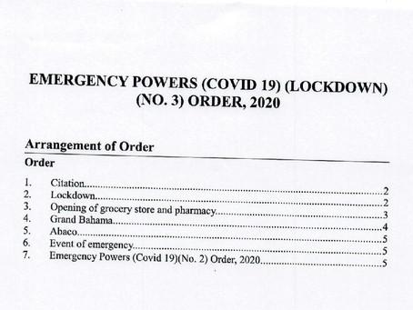 Emergency Powers (Covid-19) (Lockdown) (No.3) Order, 2020