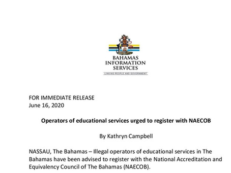 Operators of educational services urged to register with NAECOB