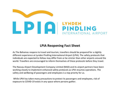Lynden Pindling International Airport Reopening Fact Sheet