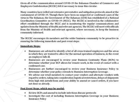 BCCEC Communication to Members on Novel Coronavirus (COVID-19)