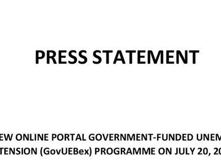 NIB will launch new online portal Government-Funded Unemployment Benefit Extension....