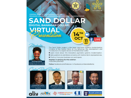 Online Event: Central Bank and BCCEC Presents: Project Sand Dollar | October 14th, 2020 at 11 AM