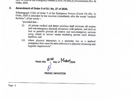 Amended Emergency Powers COVID-19 & Exempted Businesses and Undertakings
