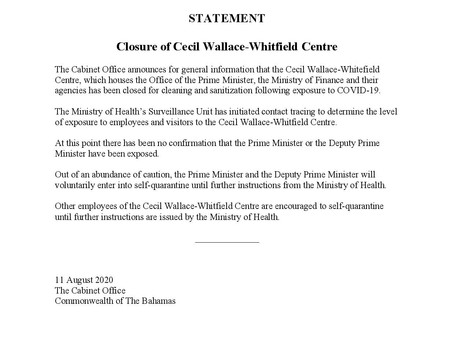 Closure of Cecil Wallace-Whitfield Centre