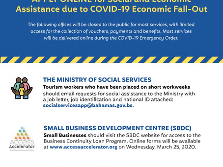 Social and Economic Assistance due to COVID-19 Economic Fall-Out