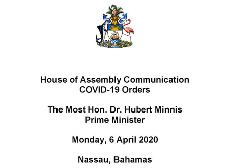House of Assembly Communication Covid-19 Orders