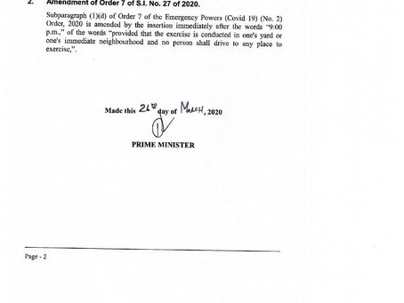 Emergency Powers (COVID-19) Amendment No.2 and Exempted Businesses and Undertakings No.2